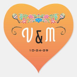 Mexican Fiesta wedding stickers