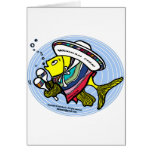 Mexican Fish in a circle Card