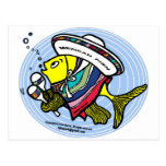 Mexican Fish in a circle Post Card