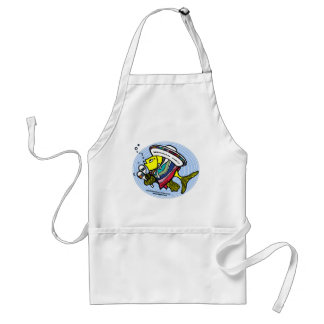 Mexican Fish in a circle Standard Apron