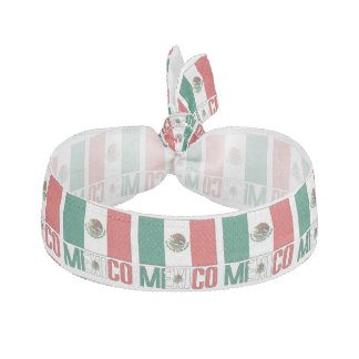 Mexican Flag and Mexico Elastic Hair Tie