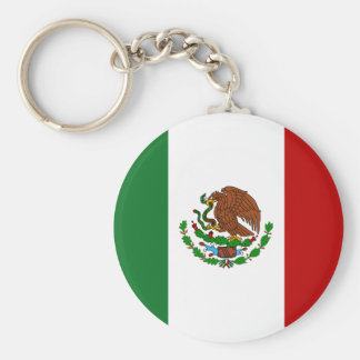 Mexican Flag Basic Round Button Keychain