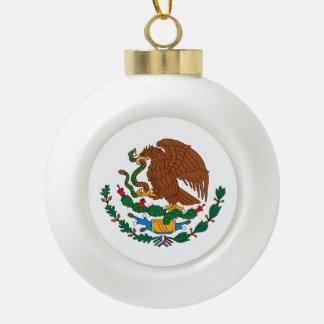 Mexican Flag Ceramic Ball Ornament