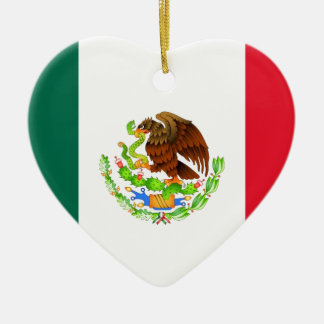 Mexican Flag Ceramic Ornament