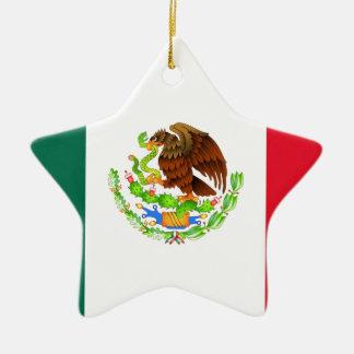 Mexican Flag Ceramic Star Ornament