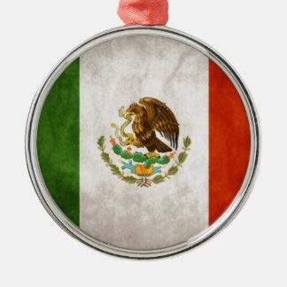 Mexican Flag Designs Silver-Colored Round Ornament