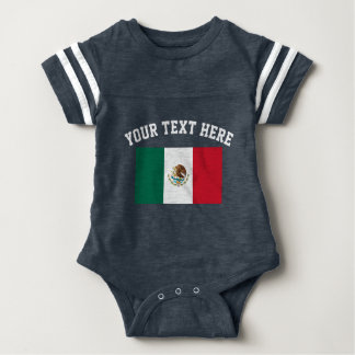 Mexican flag football jersey baby bodysuit outfit