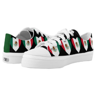 Mexican flag hearts tennis shoes