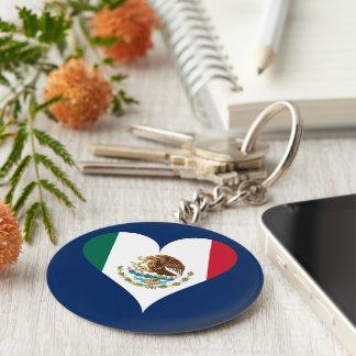 Mexican flag keychain