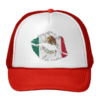 Mexican Flag Lips Trucker Hat