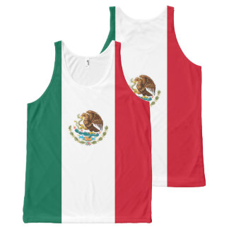 Mexican Flag of Mexico Green White Red Tricolor All-Over-Print Tank Top