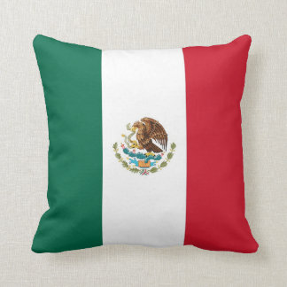 Mexican Flag on American MoJo Pillow