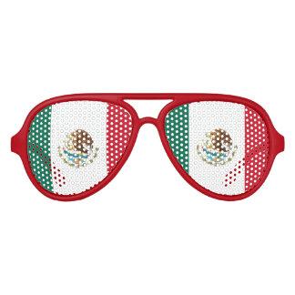 Mexican flag party shades | Fun Mexico sunglasses