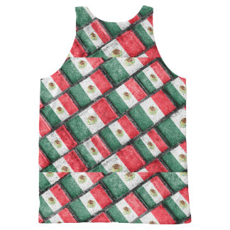 Mexican Flag Pattern Design All-Over-Print Tank Top