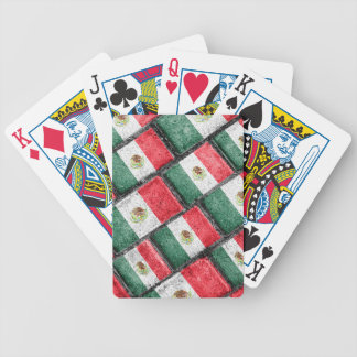 Mexican Flag Pattern Design Bicycle Playing Cards
