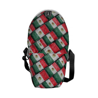 Mexican Flag Pattern Design Commuter Bags