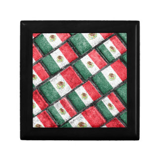 Mexican Flag Pattern Design Gift Box