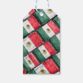 Mexican Flag Pattern Design Gift Tags