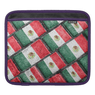 Mexican Flag Pattern Design iPad Sleeve