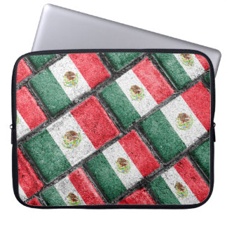 Mexican Flag Pattern Design Laptop Sleeve