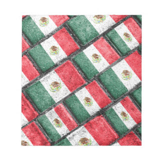 Mexican Flag Pattern Design Notepad