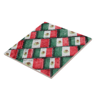 Mexican Flag Pattern Design Tile