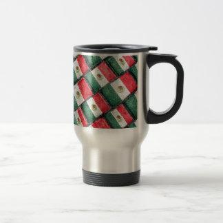 Mexican Flag Pattern Design Travel Mug