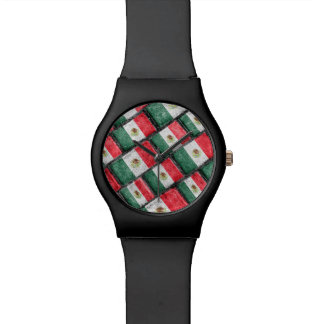 Mexican Flag Pattern Design Watch