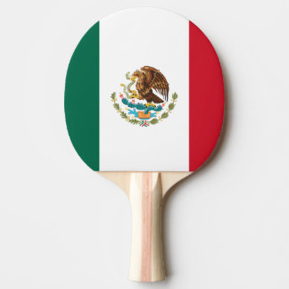 Mexican flag ping pong paddle for table tennis