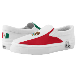 Mexican Flag Slip-On Sneakers