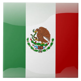 Mexican flag tile