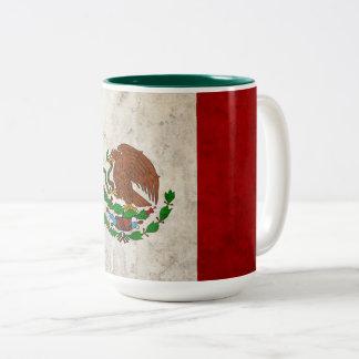 Mexican Flag Two-Tone Coffee Mug