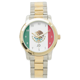 Mexican flag wrist watch for men and women