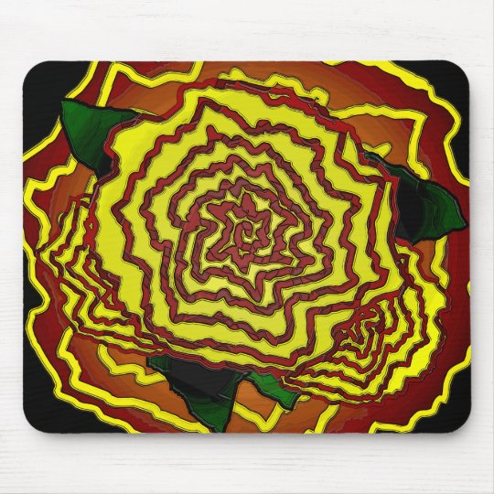 mexican flower mouse pad