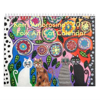 Mexican Folk Art Cat Calendar 2016 Ambrosino