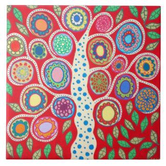 Mexican Folk Art Tree of Life Tiles Kitchen