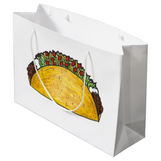 Mexican Food Foodie Taco Tacos Print Gift Bag