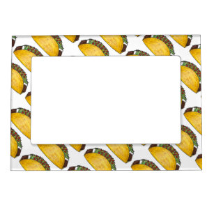 Mexican Food Foodie Taco Tex Mex Tacos Print Magnetic Picture Frame