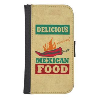 Mexican Food Galaxy S4 Wallet Cases