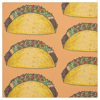 Mexican Food Hard Shell Taco Tacos Foodie Fabric