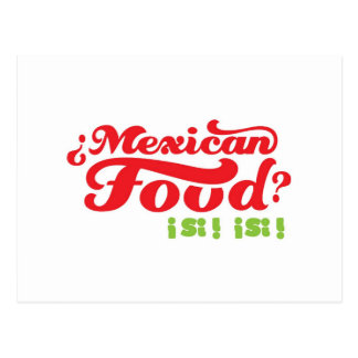MEXICAN FOOD POSTCARD