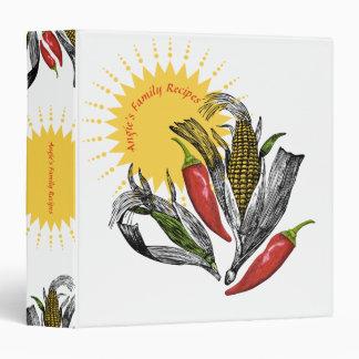 Mexican food Southwest corn chili recipe binder