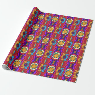 Mexican Fractal Flowers Gift Wrapping Paper