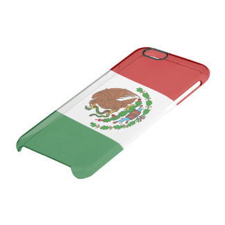 Mexican glossy flag clear iPhone 6/6S case