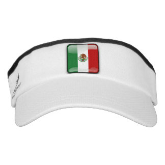Mexican glossy flag visor