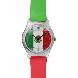 Mexican glossy flag watch
