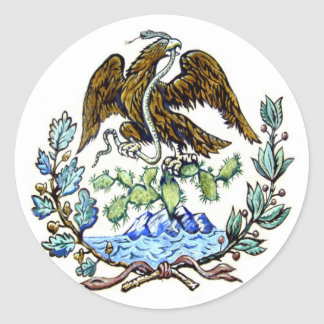 Mexican golden eagle sticker