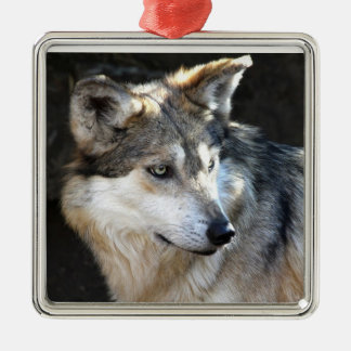 Mexican Gray Wolf Metal Ornament