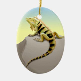 Mexican Green Iguana Lizard Ornament