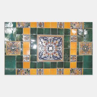 Mexican Green Talavera Style Tile work Sticker